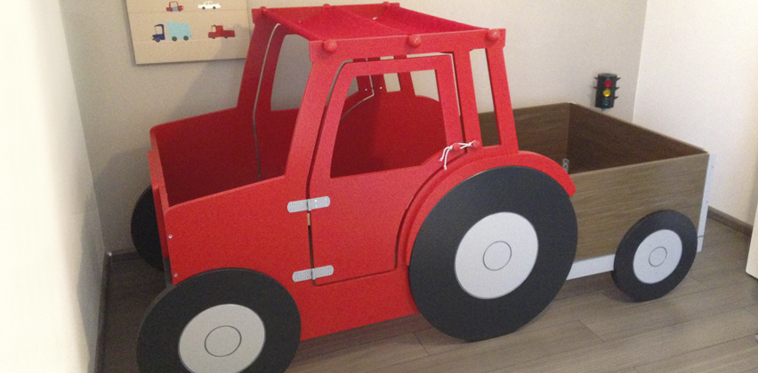 Kinderbett junge traktor  mein kizi